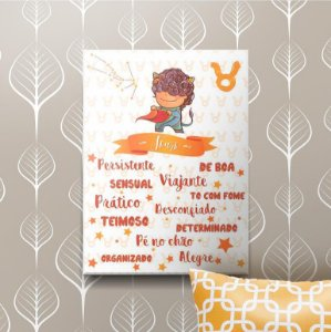 Placa Decorativa Touro