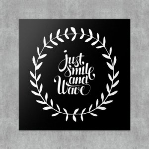 Placa Decorativa Just Smile and Wave