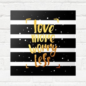 Placa Decorativa Love More