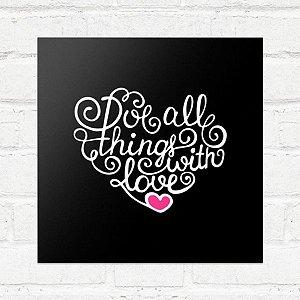 Placa Decorativa With Love