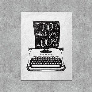 Placa Decorativa Maquina de Escrever
