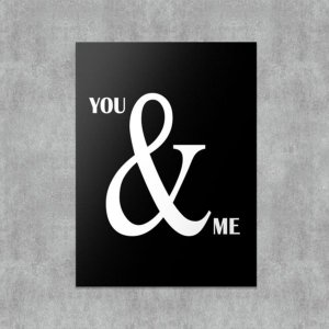 Placa Decorativa You and Me