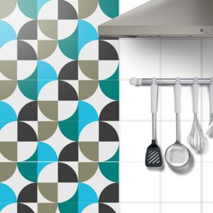 Adesivo Azulejo Geometric Mix - kit 18pçs