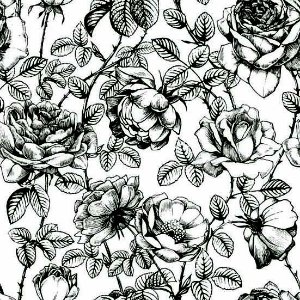 "Papel de Parede Adesivo ""Drawn Roses"""