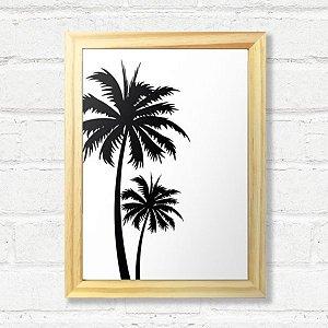Quadro Palm Moldura Madeira