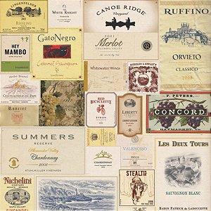 Papel de Parede Adesivo Wine Label
