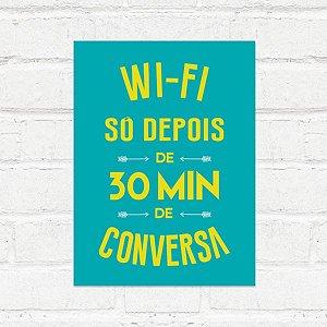 Placa Decorativa Wifi Conversa