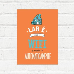 Placa Decorativa Wifi Lar