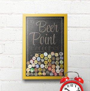 Quadro Porta Tampinhas Beer Point