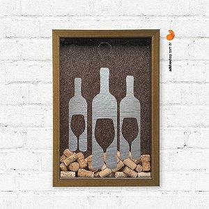 "Quadro Porta Rolhas ""Bottles"""