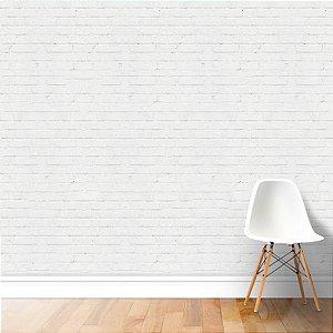 Papel de Parede Adesivo Tijolinho Branco
