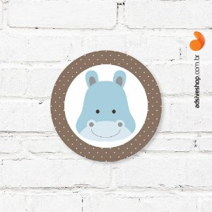 "Placa Decorativa ""Hipopotamo"""