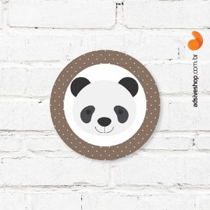 "Placa Decorativa ""Panda"""