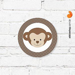 """Placa Decorativa """"Macaco"""""""