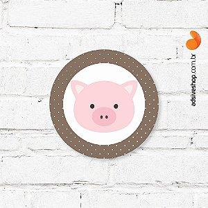 """Placa Decorativa """"Porco"""""""