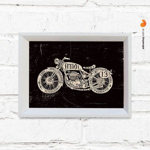 """Quadro Decorativo """"Classic Bike"""""""