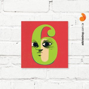 "Placa Decorativa ""Número 6"""