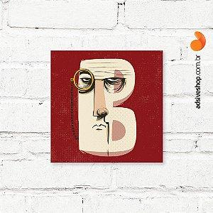 """Placa Decorativa """"Letra B"""""""