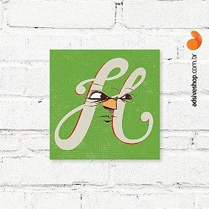 """Placa Decorativa """"Letra H"""""""
