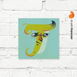 """Placa Decorativa """"Letra T"""""""