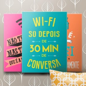 Placas Decorativas Wifi