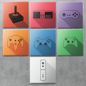 Placas Decorativas Joysticks