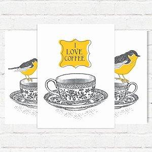 "Placas Decorativas ""Love Coffe"""