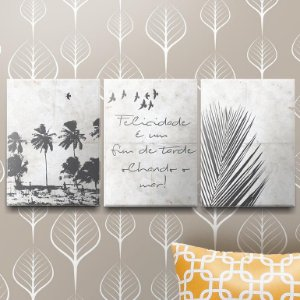 Kit Placas Decorativas Beach