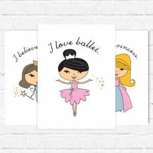 """Placas Decorativas """"Princess"""""""