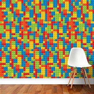 Papel de Parede Adesivo Lego