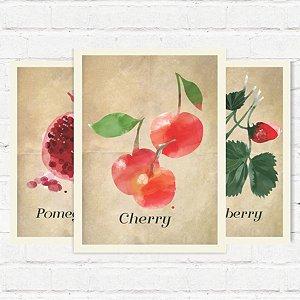 """Placas Decorativas """"Frutas"""""""