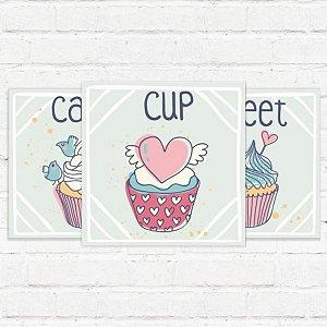 """Placas Decorativas """"CupCake"""""""