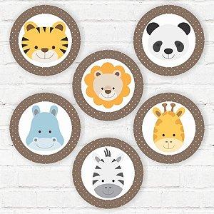 """Placas Decorativas """"Bichinhos do Zoológico"""""""