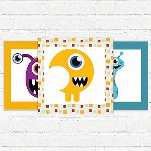 """Placas Decorativas """"Monstros I"""""""