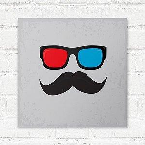 Placa Decorativa Óculos 3D