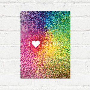 Placa Decorativa Love Colors