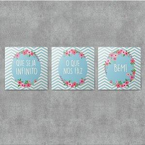 Kit Placas Decorativas Que Seja Infinito