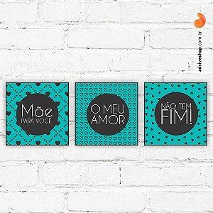 """Placas Decorativas """"Mãe, o meu amor"""""""
