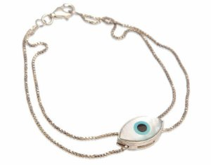 pulseira olho grego formato navete - Greek eye navette shape