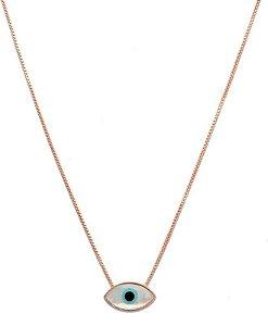 colar olho grego formato navete - greek eye navette shape