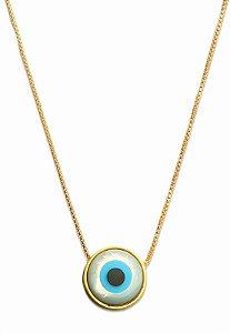 colar olho grego formato redondo - greek eye round shape