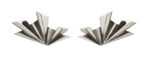 brinco origami leque - origami fan earring