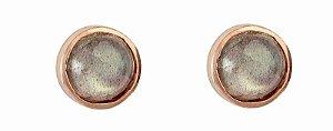 brinco redondo labradorita - labradorite round earring