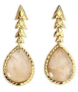 brinco escamas q. rut. dourado -scales earring golden rut. q