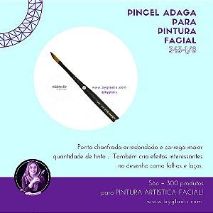 Pincel Adaga Keramik para Pintura Facial | #343-1-8 Linha Mini Brush