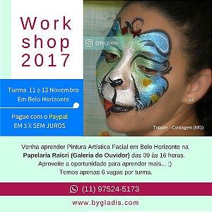 11 e 13 Nov |Curso em Belo Horizonte - Pintura Facial Iniciante e Avançado
