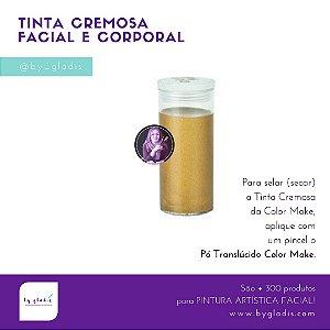 Tubo Tinta Cremosa Facial e Corporal Metálica Maquiagem Artística Color Make 20 GR | Ouro - Dourada