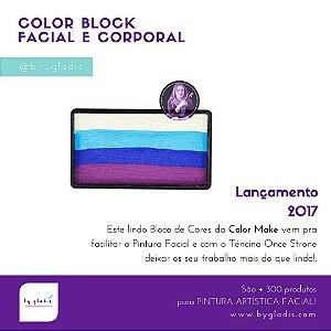 Kit Sortido Bloco Colorido Pintura Artística Facial Color Make | 8 unidades