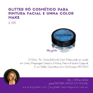 Glitter Pó Cosmético para Pintura Facial e Unha Color Make 4 gr