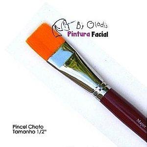 "PINCEL CHATO PARA PINTURA FACIAL (COLOR BLOCK) TAMANHO GRANDE 1/2"""